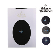 Vivienne Westwood stockings Basic ORB embroidered logo Black / Dusk Gray / Royal Navy