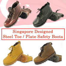 Coupon Friendly Sleese Warrior Safety Boots|Steel Toe and Steel Plate Safety Boots / Designed in SG