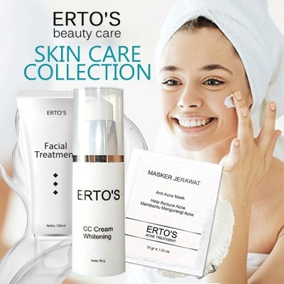 ERTOS SKIN CARE COLLECTIONS | NIGHT CREAM MASK FACIAL WASH CUSHION SERUM EYELASH FACIAL TREATMANT Deals for only Rp25.000 instead of Rp25.000
