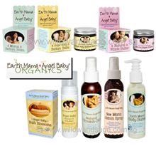 Earth Mama Angel Baby Mama Bottom Spray/ Natural Nipple Butter/ Baby Bottom Balm