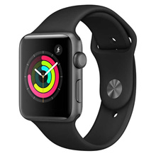 Apple Watch Series 3 GPS with Black Sport Band - 42mm - Space Gray