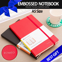 [GIFT]♥Quality A5 Notebook♥ Journal Notebook Organizer Synthetic LEATHER EMBOSS MONOGRAMMED