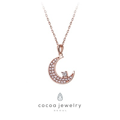 Crescent Moon Necklace 07-IYN-03.7