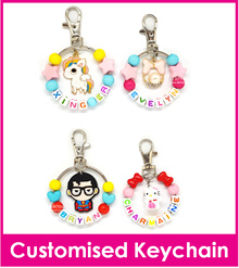 Customised Ring Keychain/Personalised Name Bag Tag/Lugg_age Tag/DIY Present