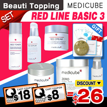 SAVE $26+FREE GIFTS★[Medicube] Zero Pore Line Set(Pad+Serum+Cream) / Red Line Set(Toner+Serum+Cream)