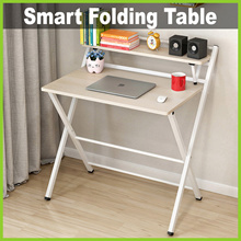 [Life+] Smart Folding Table ★ 80 x 50cm with Shelf 16cm wide ★ Multi-Functional • 3 Colours