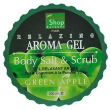Healthy Shop 403A Relaxing Aroma Gel Salt and Scrub (Green Apple) 200ML