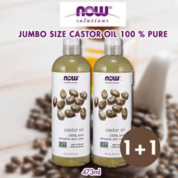 1+1 Castor Oil Jumbo Size 100 % Pure 16 oz (473ml)