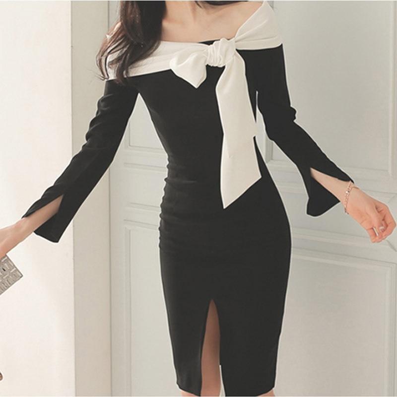 2017早秋  韓国ファッション  レディース  ワンピース 流行 体型 カバー   長袖 可愛い  上質  SKZ164