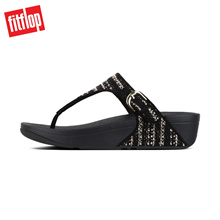 Fitflop™ The Skinny Tweed Toe Thong Black/Berry Womens Sandals