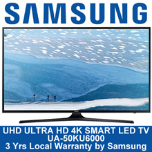 Samsung 50Inch UHD  ULTRA HD 4K SMART LED TV UA50KU6000KXXS * 3 YEARS WARRANTY BY SAMSUNG