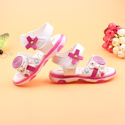 2be5d6ecd Qoo10 - Girls Sandals 1-2-3 year old baby toddler Sandals peep-toe ...