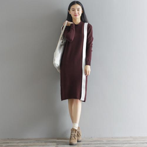 秋冬の新型韓国ファッション良い品質セーターのワンピース