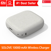 💖LOCAL SELLER💖[Xiaomi SOLOVE 10000 mAh] Wireless QI Charger Dual USB Power Bank 10000mAh Powerbank