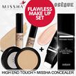 Makeup SET❤ [OSEQUE]High-End Touch Foundation/Roller type Foundation+[MISSHA] Perfect Concealer/Under Eye Brightener Concealer