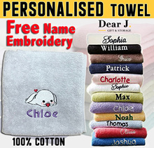 Personalised Towel/Customised gift/Free Name Embroidery/Christmas Gift/100% Pure Cotton