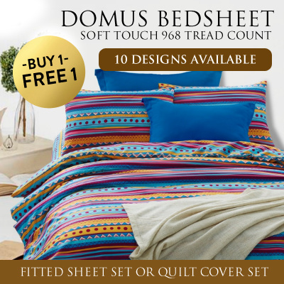 1+1 DOMUS Soft Touch 968 Thread Count Fitted Bed Sheet Set / 10 DESIGN