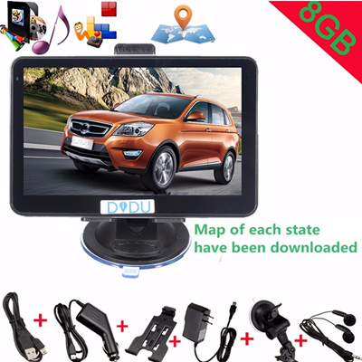 didu 5inch 8gb 128m dash truck car gps sat nav navigation navigator fm mp4  ebook multimedia north am