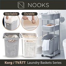TVÄTT KORG-Laundry Rack with Basket / Laundry Basket/ Clothe Organization/ Large Storage