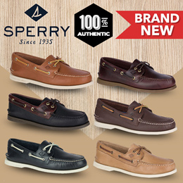 Sperry Mens Authentic Original 2-Eye Leather Boat Shoes (Multiple Colours/Designs Available)