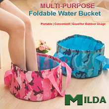 [New Arrival] Multi-Purpose 15L Water Bucket ♥ Light and Small ♥ Good for Foot Soak Bath/Camping