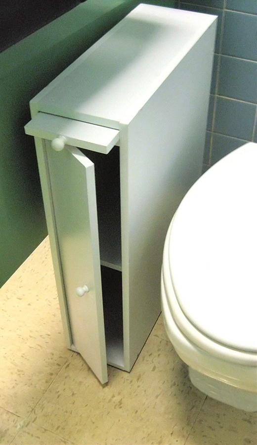 Wood Slim Bathroom Cabinet Stand