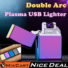 USB Arc Electronic Pulsed  Lighter Plasma Windproof  Electric Lighters Rechargeable Flameless