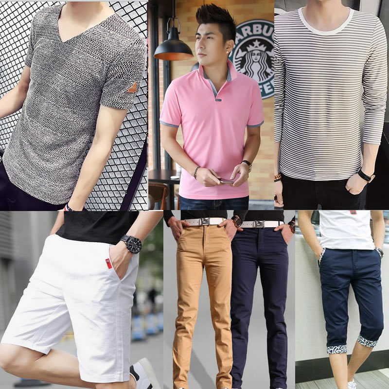 ac0b202562b fit to viewer. prev next. men polo T-shirt pants top shorts Short Sleeved T shirts  plus size trousers