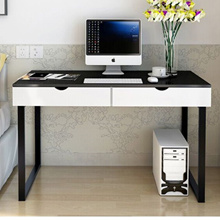 TCT001Computer Table Study Table Office Table with drawer black and white TCT