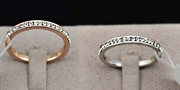 Genuine 18kgp Eternity Ring in Rose or White Gold - Clearance Sale  (Was RM159)