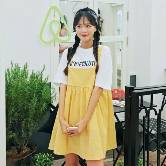 あっかんべーショップジューシーOPS 綿ワンピース/ 韓国ファッション