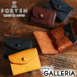 b345a7a242ff FORTEN wallet trifold wallet mini wallet mens ladies leather leather GROUND  Cramp FRT-GROUND-