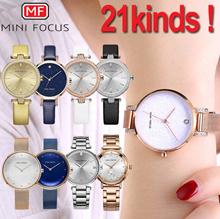 [Mini Focus]  ♥23STYLE♥The best womens leather mesh metal wrist watch