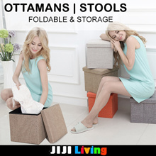 Foldable Stools Storage / Ottomans! ★Chairs | Sofa | Stools ★Storage | Organizer ★Furniture