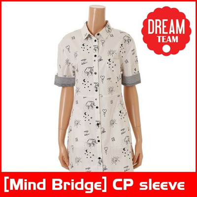 [Mind Bridge] CP sleeve shirt dress shirts MPOP3211 Cotton One Piece/  Korean fashion