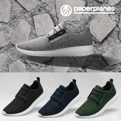 d375b7df3ae7 Paperplane☆ Wool Sneakers PP1500 (Green Color) Wool Shoes   Unisex Casual  Wool Sneakers