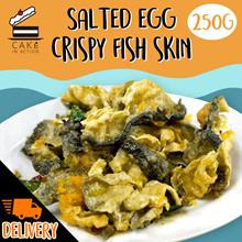[Cake in Action] Salted Egg Fish Skin. Once you start you cant stop.