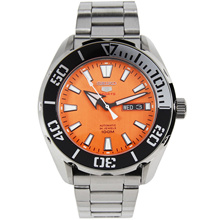 SRPC55 SRPC55K SRPC55K1 Seiko 5 Sports Automatic 100M Orange Dial Analog Male Watch