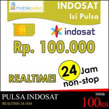 Pulsa Indosat Rp. 100.000- REALTIME 24 jam non-stop! Menambah Masa Aktif (Mohon baca cara pengisian di bawah)