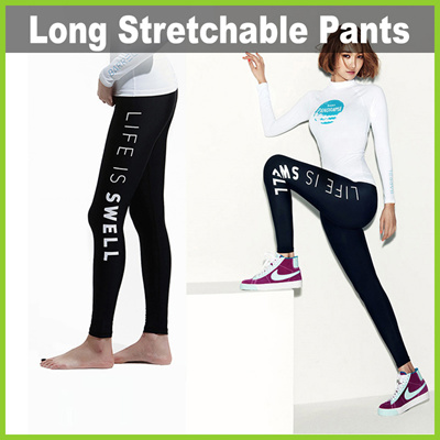 YH1804  Long Stretchable Exercise Pants for Females 悔ノ Suitable for  Swimming   Yoga 197a86a92