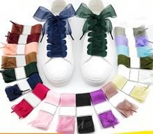 Organza - Satin Ribbon Shoelaces Flat Silk Shoes Lace Velvet
