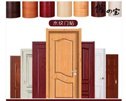 Package door stickers wood grain bedroom door self-adhesive decorative wardrobe desktop waterproof w