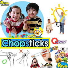 [PORORO Training Chopstick N Spoon Set] Kids/children Training Chopstick N Spoon Set / Made in Korea