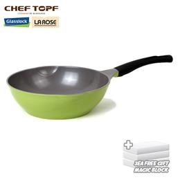 [CHEF TOPF] LA ROSE wok Fryingpan 28cm glasslock cheftopf