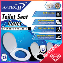 ★ A-TECH™ ★ Toilet Seat Cover 【Available in D / O / V Shapes!】 • Durable • Adjustable • Soft Closing