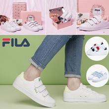 【Fira】 FILA pretty sneakers COAT DELUXE / genuine / strawberry milk / melona / melon / pink / bell-colored Original Womens Coat DELUXE Canvas Velcro
