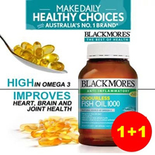 [ 2 FOR $50 ] 1+1 BLACKMORES ODOURLESS FISH OIL ♥ FOR JOINT/HEART/EYE/BRAIN HEALTH  ♥ 04/2020