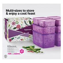 Tupperware Snowflake Set-of-8 (9) Purple 400ml/1.3L/2.8L/3L