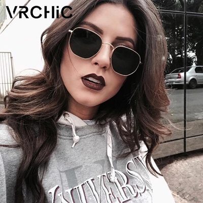 1dddd041975 VRCHIC 2018 Round Sunglasses Women Shades Retro Classic Black Sun Glasses  Female Male Luxury Brand D