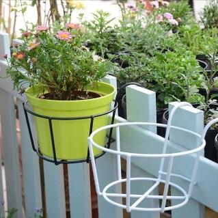 Qoo10 & Flower Pot Rack Balcony Parapet Corridor Hanging Plant Basket